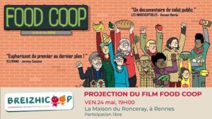 Projection du film FOOD COOP + temps d'échange @ Maison du Ronceray